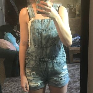 american eagle overall shorts